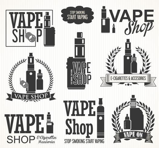 Elemente für die elektronische Zigarettenkollektion von Vapor Bar und Vape Shop