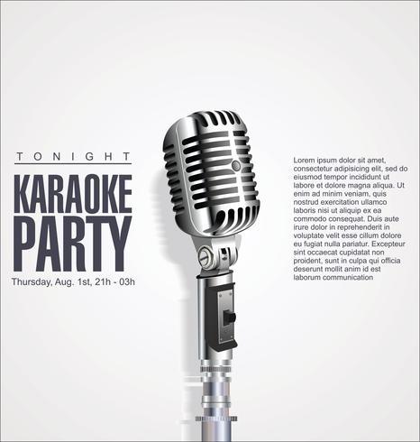 Fundo de design retrô vintage microfone vetor