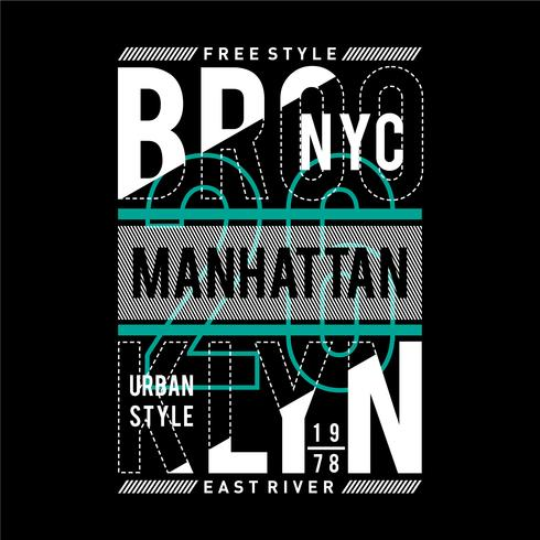 New York stad typografie ontwerp t-shirt