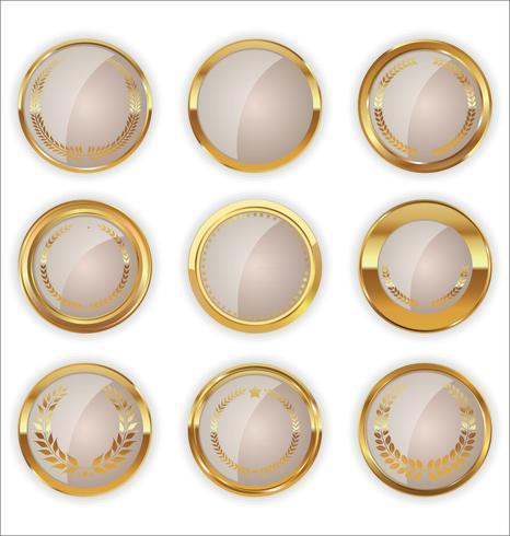 Luxury premium golden badges and labels