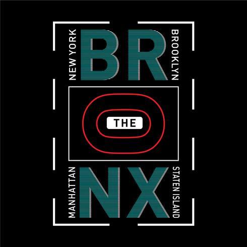 das Bronx-Typografie-Designt-shirt