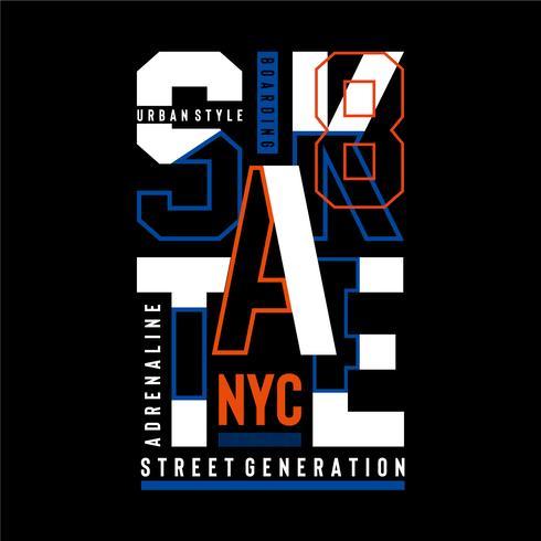 Skate sport typography, t-shirt graphics