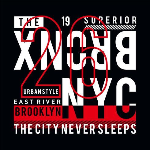 de bronx ny stad coole awesome typografie t-shirt ontwerp vectorillustratie