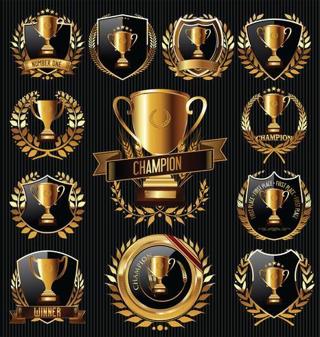 Emblemas de trofeos vector