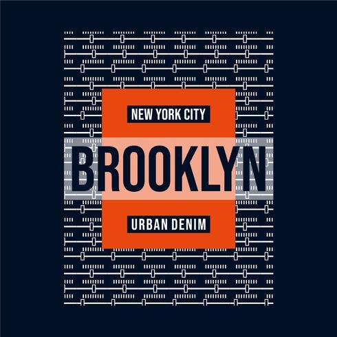 Vektor-Illustration zum Thema New York City Typografie