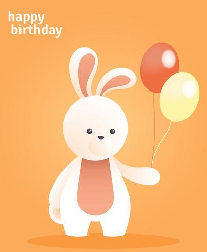 Saudações de animais feliz aniversário vetor