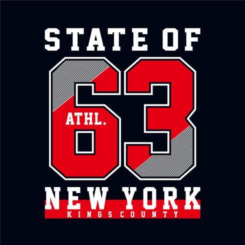 Atletische sport typografie, tee shirt graphics