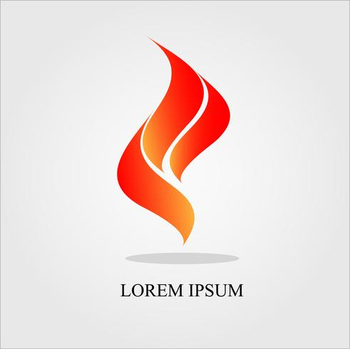 Roter Flügel und Feuer Logo Vektor