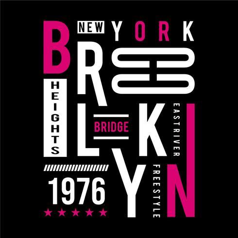 brooklyn - bridge typografieontwerp voor t-shirt