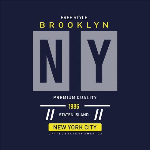 New York t-shirt ontwerp grafische typografie