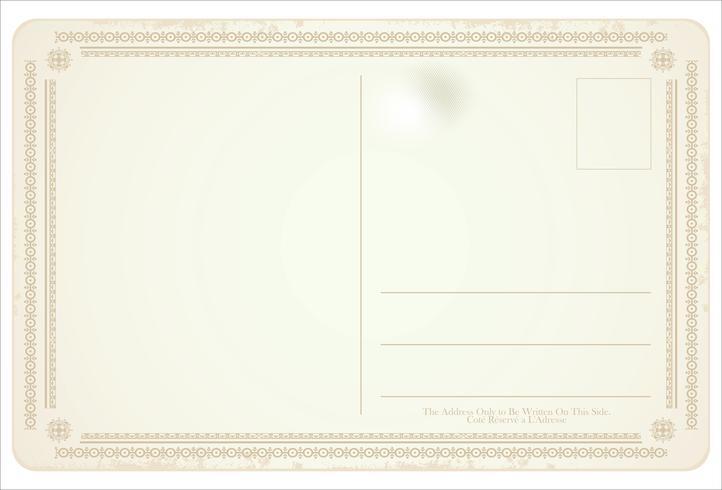 Diseño retro postal vector