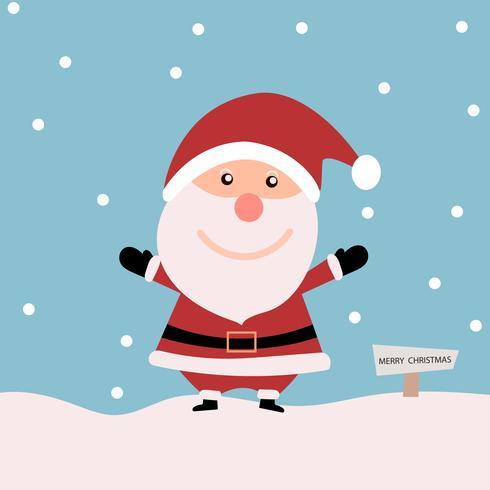 Weihnachtskarte mit Santa Claus mit Schnee