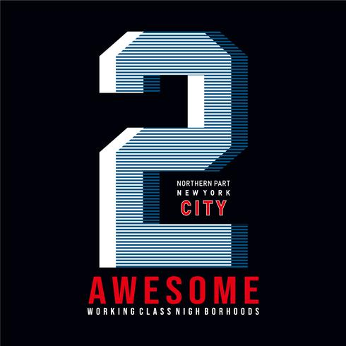 ny yok city typografi för tee shirt design