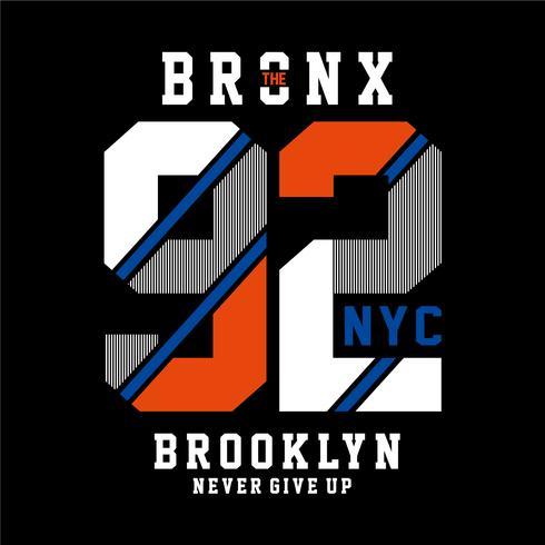 Diseño de tipografía de la ciudad de Nueva York para la impresión de camisetas y otros usos
