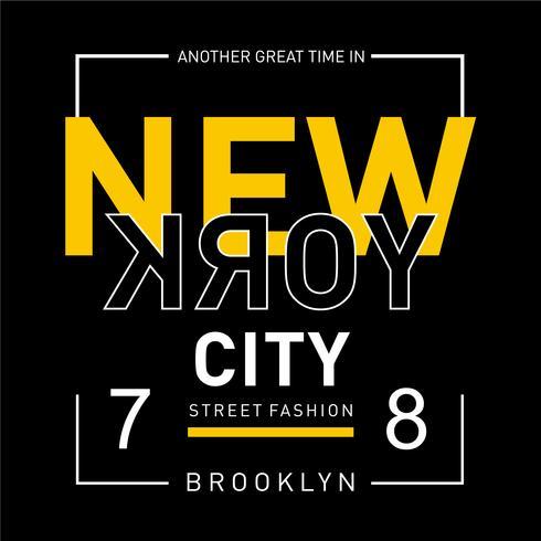 New York typografie, t-shirt afbeeldingen