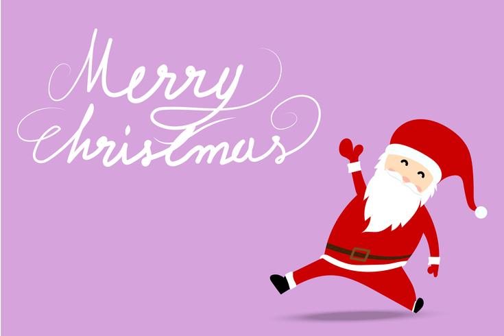 Merry Christmas Greeting background with Santa Claus vector
