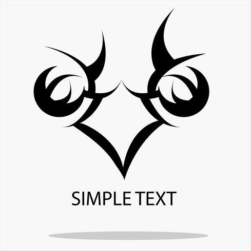 Schwarzes des Adlervektors: Konzept im Kopf des Stiftes für das Schreiben des Logos