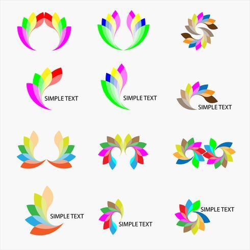 vária e colorida logo design conjunto vector: conceito em voar e asa para a sabedoria