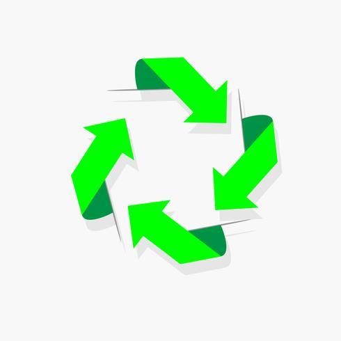 grön recycle eller cirkel pil diagram vektor