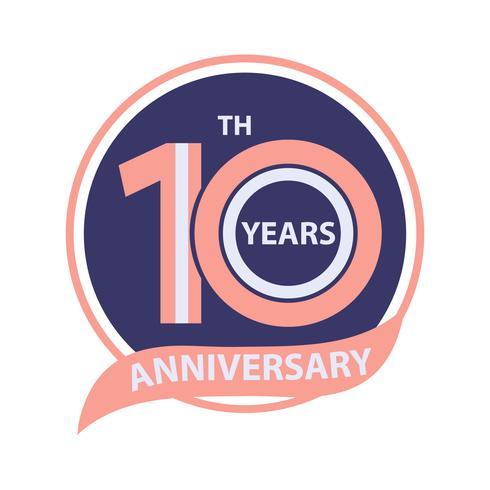 10 års jubileumsskylt och logo firande
