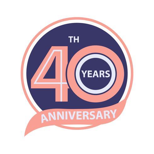 40 sinal de aniversário e celebração do logotipo