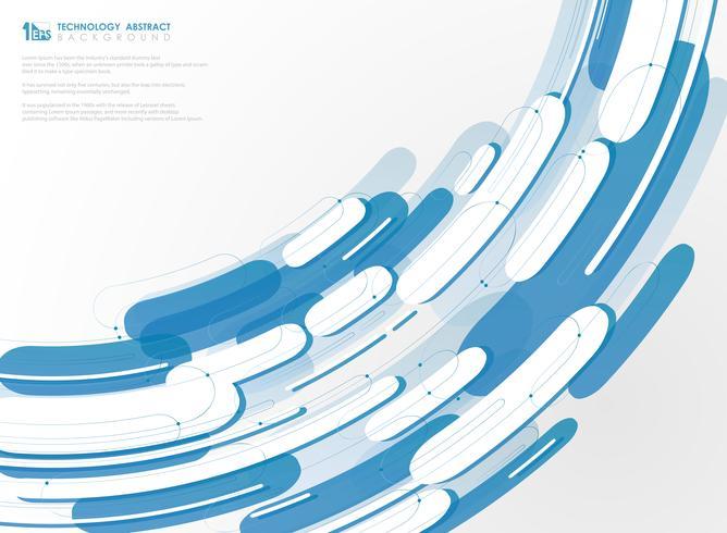 Linha azul geométrica tecnologia de fundo. ilustração vetorial eps10 vetor