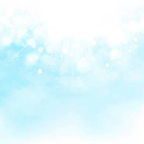 El cielo azul del sol estalló el fondo del verano de la decoración. ilustración vectorial eps10