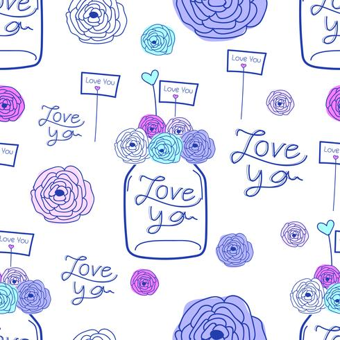 Lovely pattern background. Hand drawn fabric, gift wrap, wall art design.