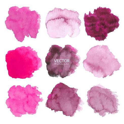 Sistema de fondo rosado de la acuarela, logotipo del movimiento del cepillo, ejemplo del vector.
