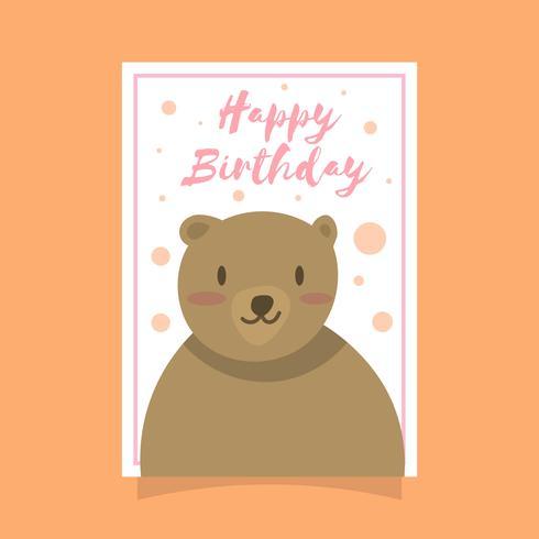 Grizzly björn födelsedag hälsningskort