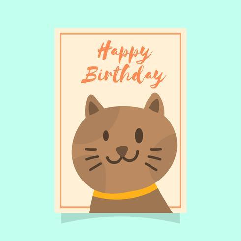 Carte de voeux d'anniversaire de chat