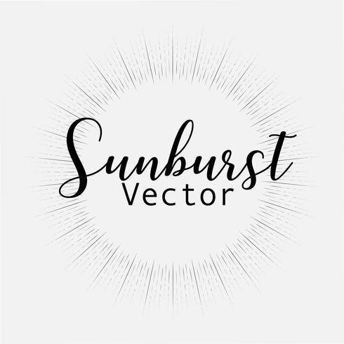 Sunburst stil isolerad på vit bakgrund, Bursting strålar vektor illustration.