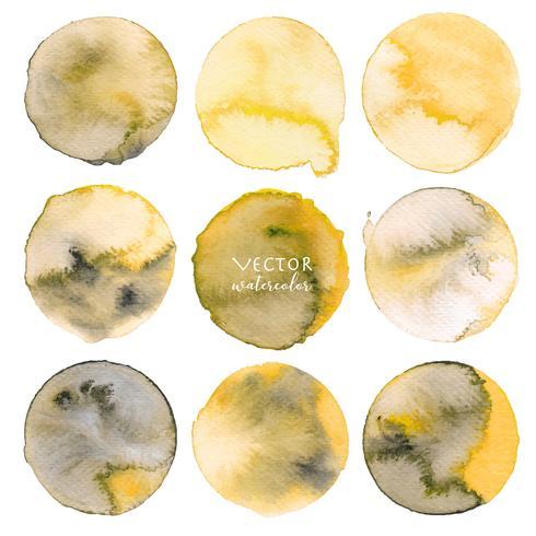 Aquarelle jaune sur fond blanc, illustration vectorielle.