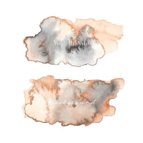 Abstracte waterverfachtergrond. Aquarel element voor kaart. Vector illustratie.