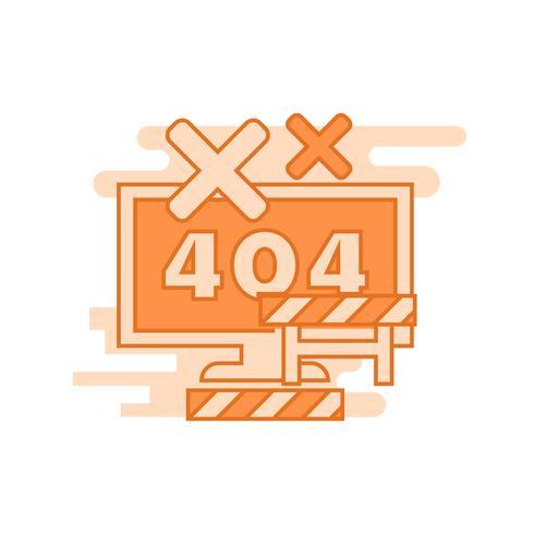 Fehlerabbildung. Flache Linie gestaltete Konzept mit orange Farben, für bewegliche apps oder andere Zwecke