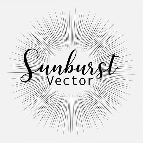 El estilo del resplandor solar aislado en el fondo blanco, estallando rayos vector el ejemplo.