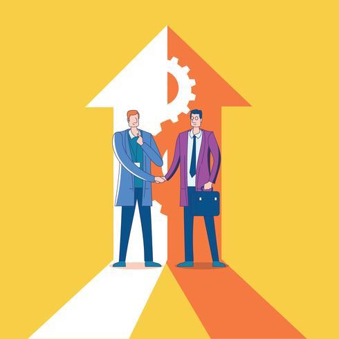 Synergy Concept Businessman para objetivo corporativo vetor