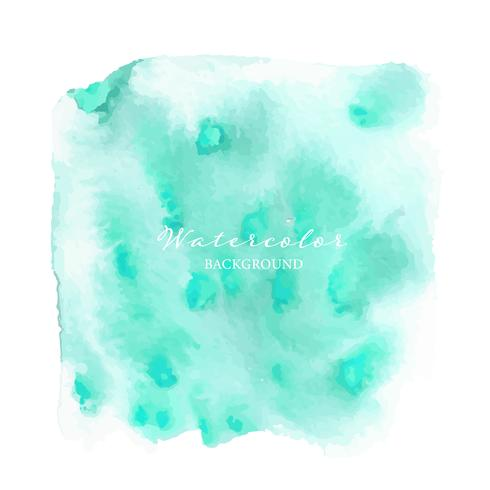 Mint watercolor abstract background, Vector illustration.