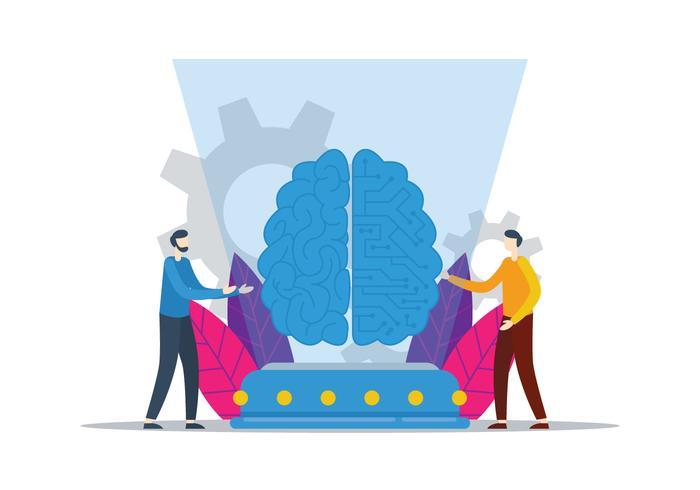 Cérebro Digital vetor