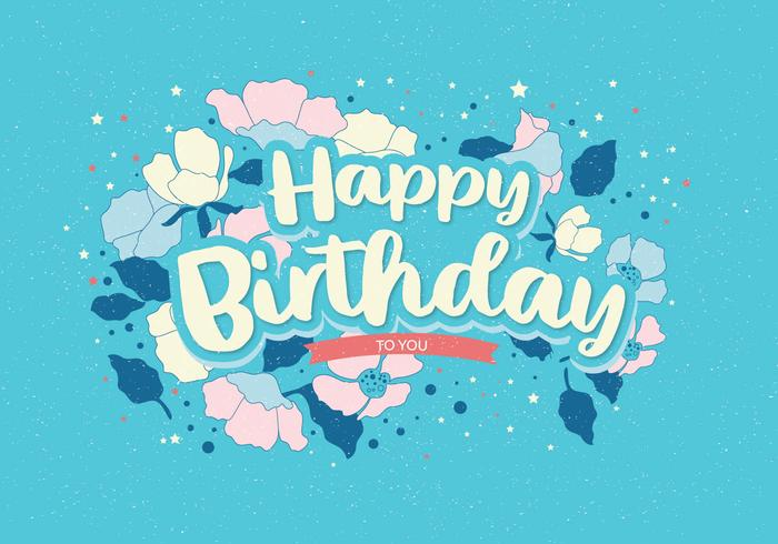 Feliz cumpleaños tipografía Vol 2 Vector