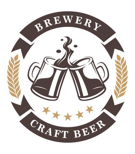 Emblème de tasses à bière