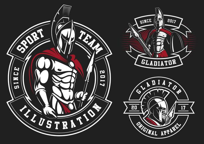 Uppsättning gladiatorer vektor