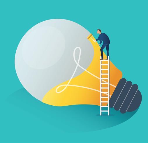 Konzept-Vektorillustration der Geschäftsleute der Zusammenarbeit kreative Ideen