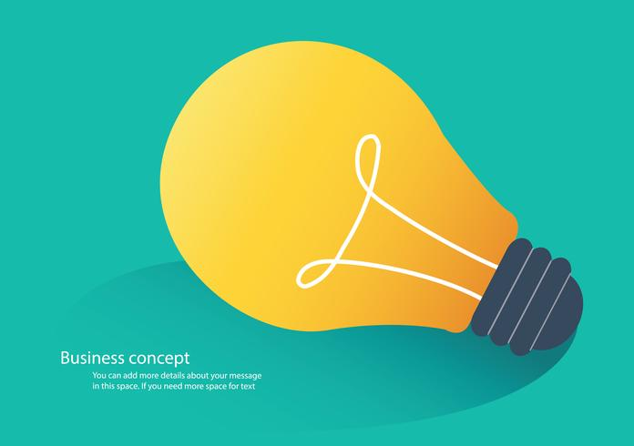 creative idea concept, light bulb icon vector illustration