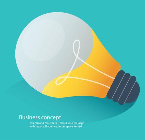 kreatives Ideenkonzept, Glühlampeikonen-Vektorillustration