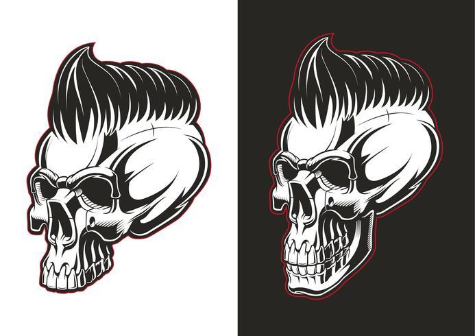 Demi-profil de crâne de coiffeur