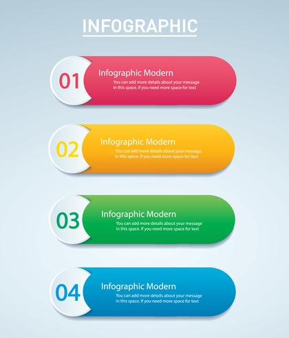 info graphic Vector template with 4 options. Can be used for web, diagram, graph, presentation, chart, report, step by step infographics. Abstract background