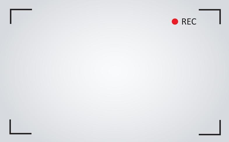 fondo dell'illustrazione di vettore dello schermo di registrazione della macchina fotografica