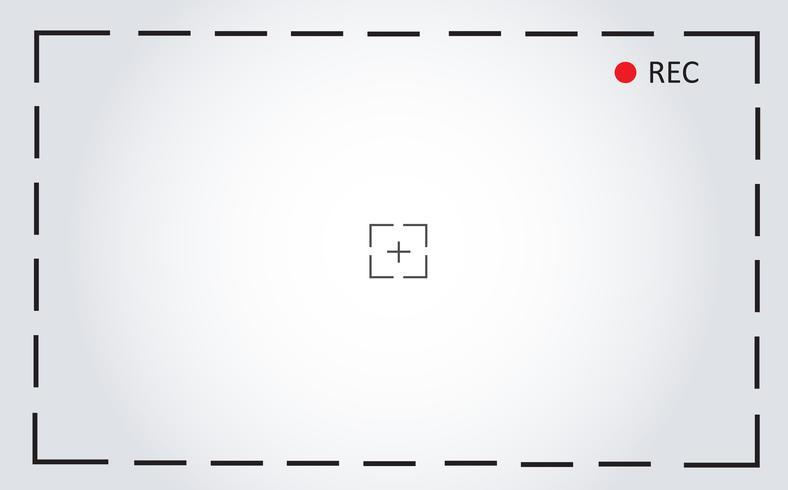 Fondo de ilustración de vector de pantalla de grabación de cámara