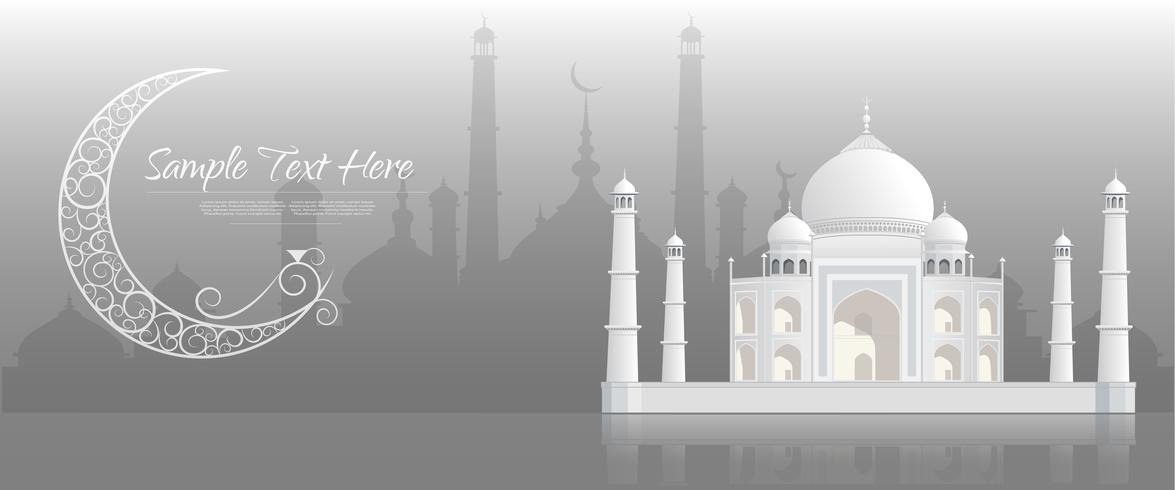 Ramadan kareem Background, Ramadan Kareem greeting banner. vector